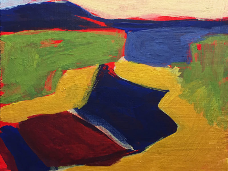 Abstract Expressionist Landscape