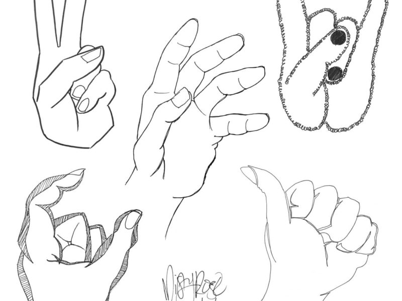 Non-domininant hand sketches